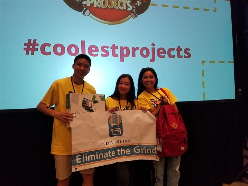 Juniors Win First Place at 'Coolest Projects' for 'Peer