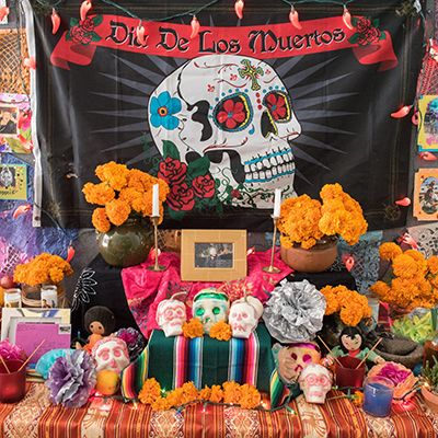 Dia de los Muerta altar center