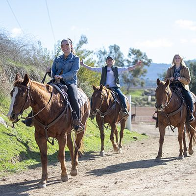 Alums enjoy riding horses when they return