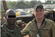 Chris Dietrich CdeP 1993 pictured with Liberian mercenary general in a gold mining camp during investigations of cross-border attacks into Côte d'Ivoire.