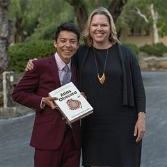 Blossom Beatty Pidduck with Jose (award recipient)