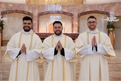 Deacon Christopher Meyer '09 (right)