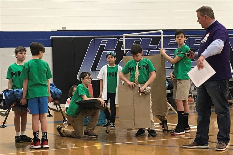 One of Steward's Destination Imagination teams at the regional tournament.