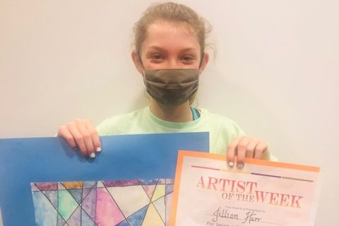 Jillian Haar '27 was named a finalist in Artsonia's