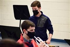 The Steward School's Harrison Gelber '21 wins All-State Band as percussionist.