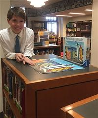 John (5A) Finishes the Library Puzzle!