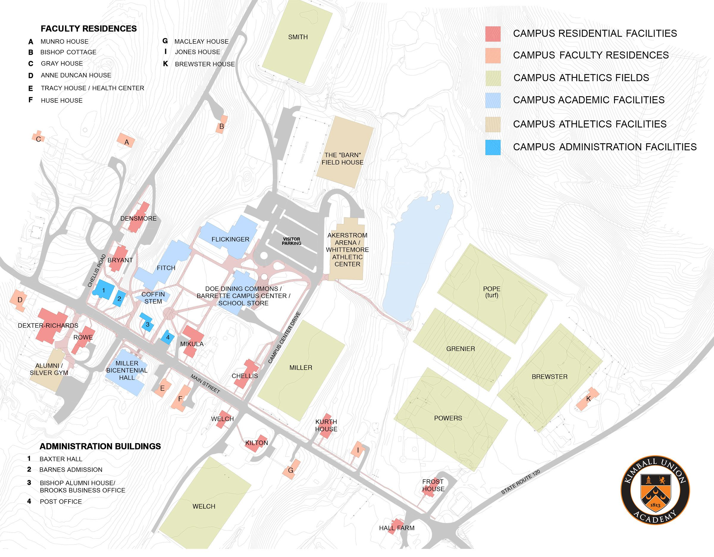 Lebanon Valley College Campus Map.Visitor S Guide