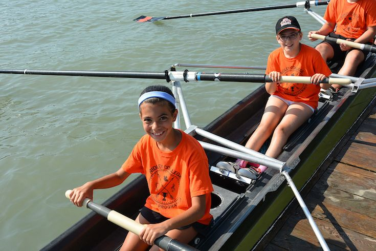 Day camp rowing