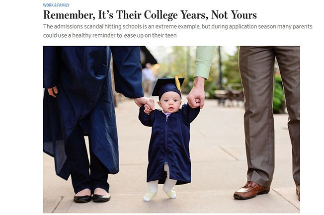Remember It's Their College Years, Not Yours