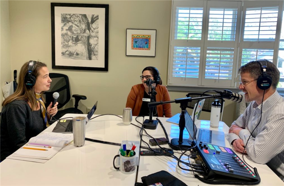 Head of School Mark Silver sits down with 6th grade English & Integrated Studies teacher Jenn Gingery and Director of the Scott Center of Social Entrepreneurship Annie Makela.