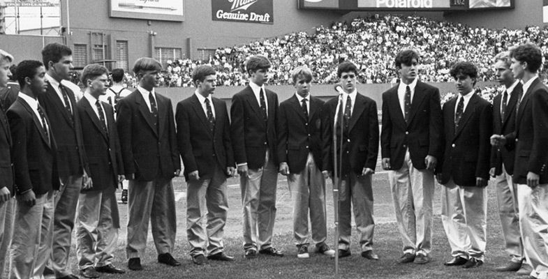 The Ad Libs began signing at Fenway Park in 1984.
