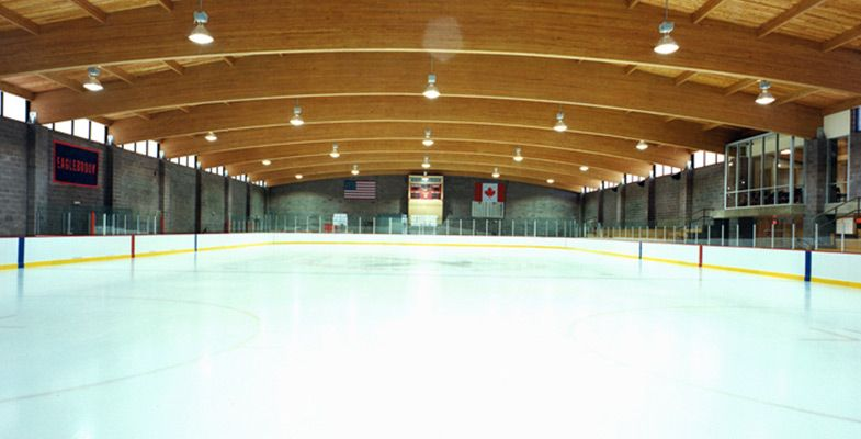 Eaglebrook's hockey rink - Alfond Arena and McFadden Rink was built in 1998 provides ice time for multiple hockey teams to run practices and games.