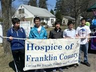 Eaglebrook students at the spring parade, representing Franklin County Hospice
