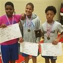HVAC Champions: (L-R) Bralynn Morris '23, Christian Grimes '23, and Martez Cooksey '23