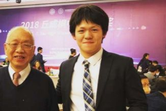 Mark Chen with Shing-Tung Yau, Harvard Tenure Professor