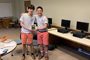 1st place winners Jonathan Zhao and Jonathan Chang