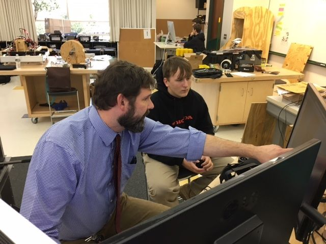 Daniel Bartels (left) came to Collegiate in 2015 as STEAM coordinator