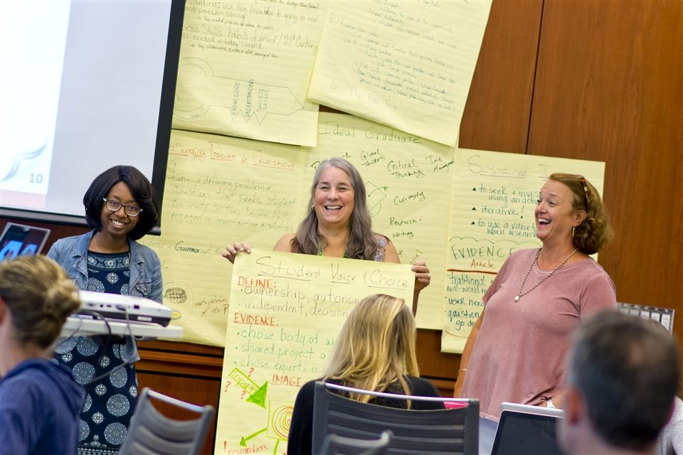 collegiate faculty participate in hands on workshop