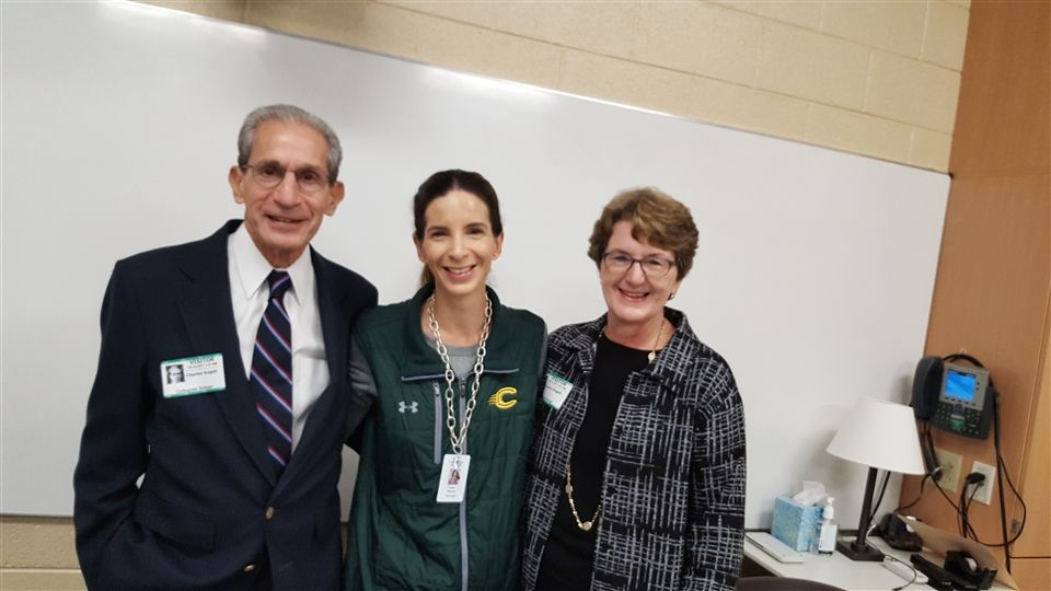Upper School English teacher, Dr. Leah Sievers, with her parents, Dr. Charles Angell and Mrs. Sandra Angell