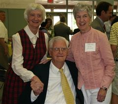 Helen Tanner (left) with Malcolm U. Pitt Jr. and Julia Williams