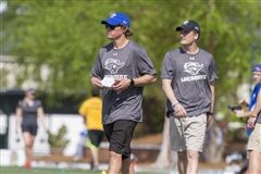 Mikey Thompson '06 (left) has been the head men's lacrosse coach at Christopher Newport since 2016. The Captains are 51-23 during his tenure.