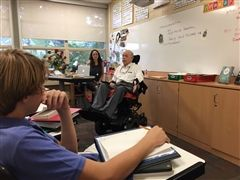 John Coates, who retired in 2015, returned in the fall of 2017 at the behest of his successor Wendi Moss to teach a class on transcendentalism.