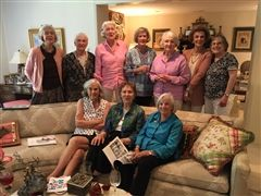 Ten members of Collegiate's Class of 1955 convened this past Thursday for a