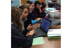 Collegiate Upper Schoolers assist Quioccasin Middle School students in the STAR program.
