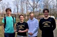 Members of the junior varsity swim team broke two records at the Middle School Championships.
