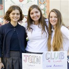 Sailors were all smiles at the Annual Club Fair today. Students had the chance to share their clubs with the Marymount Community.