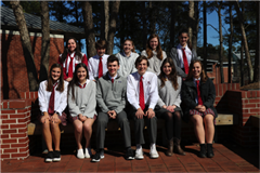 The 2017-18 C&G Staff (bottom row, from left) Shea Fleming, Libby Malcolm, Ethan Mullen, Miller Reid, Sarah Kallis and Olivia Martin, (top row, from left) Maddie Poch, Matthew Raeside, Maggie Belenky, Grace Kelly and Annie Sager.