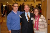 Pat Downes '01, Athletic Director Jon Bartlett '87 and Jessica Kensky attending Hall of Fame