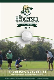 Henderson Memorial Tournament Brochure