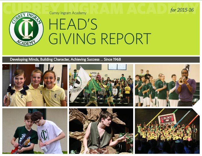 Head's Giving Report 2015-16