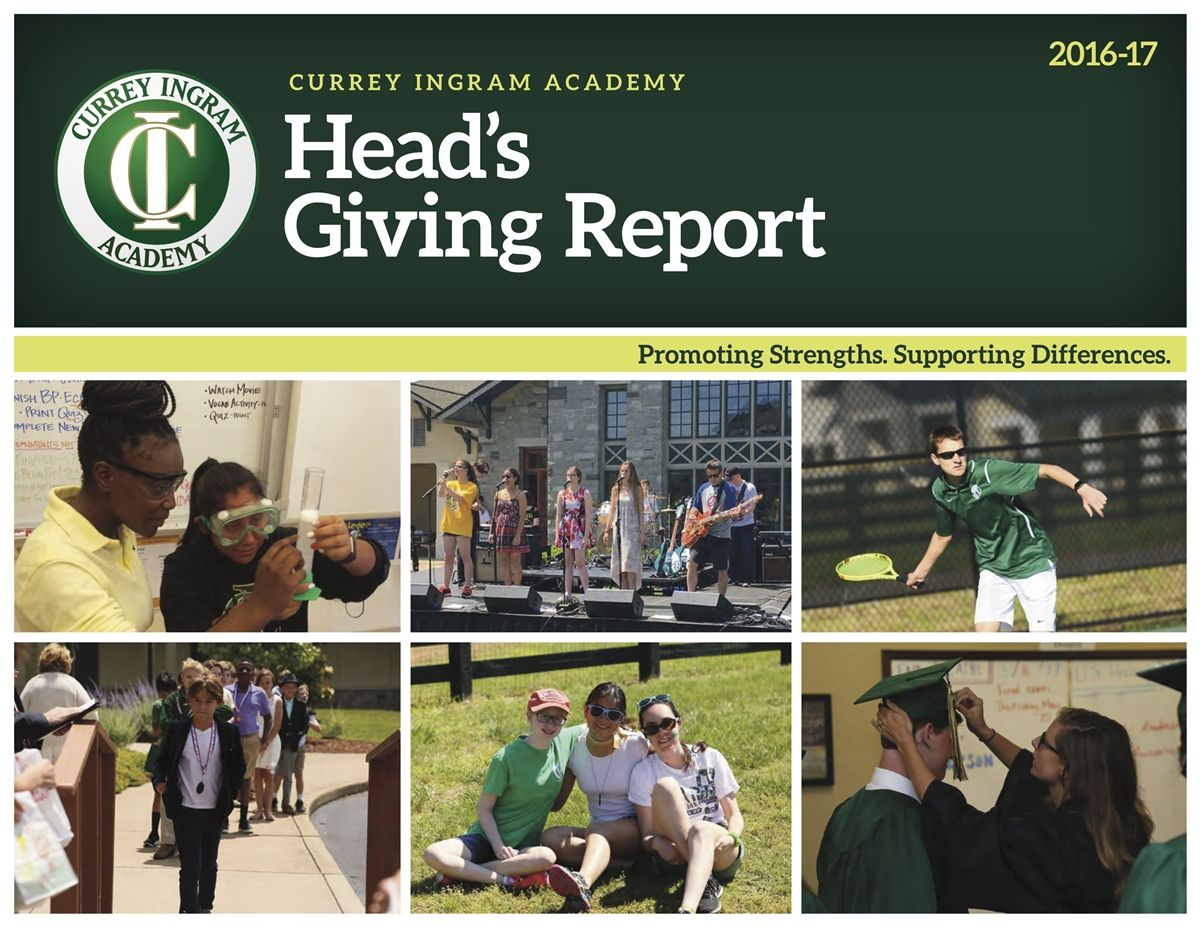 Head's Giving Report 2017-18