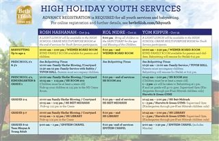 High Holiday Youth Services