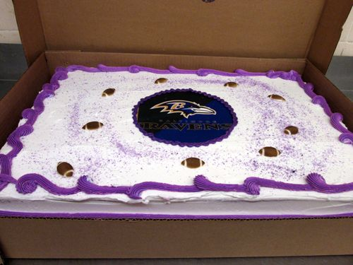 Ravens Cake for Super Bowl Shabbat