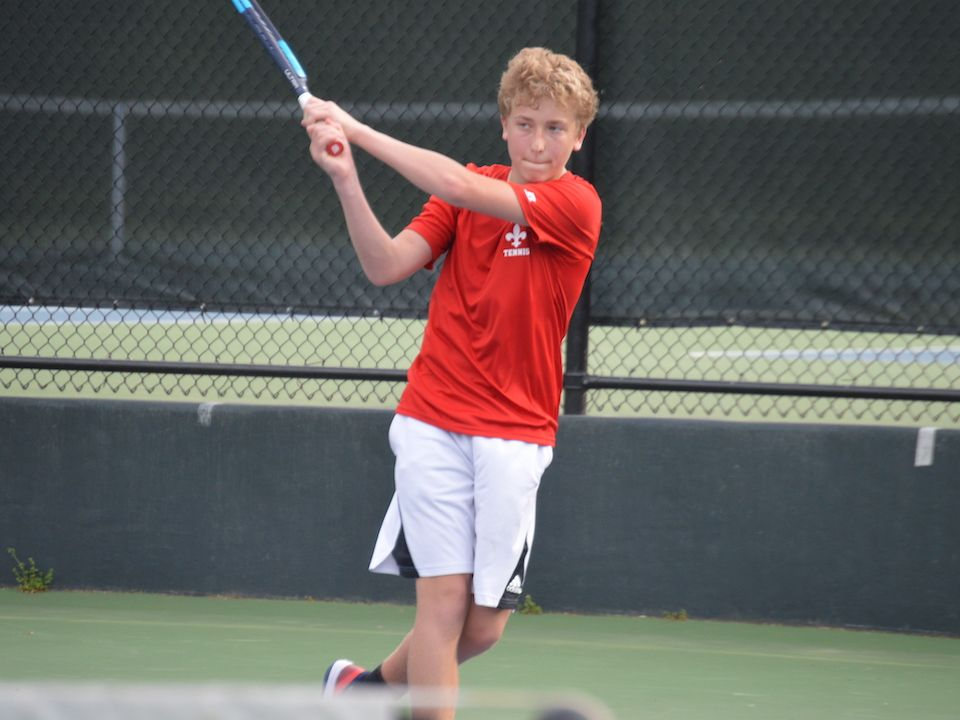 Ethan Smith '23 took wins at #1 singles and doubles.