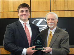 Ralph Levy '18 is the fifth StC student to be nominated for the Lexus of Richmond Leadership Award this school year.