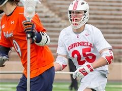 Fleet Wallace '15 helped Cornell to an upset of Syracuse.