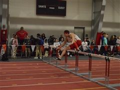 Elby Omohundro '19 won the 55-meter hurdles in 8.00.