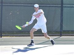 Will Thompson '22 delivered a win in singles and doubles for StC.