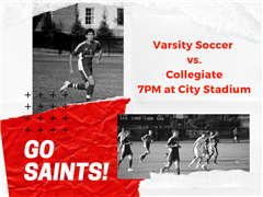 Cheer on the Saints at 7PM and don't forget to bring a canned good to support Feed More!