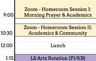 Note: PE will alternate after lunch on some days.