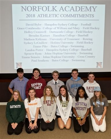 Members of the Class of 2019 Commit to Collegiate Athletic