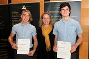 From left: Oscar McCavour, Courtney Prieur and Rory Krnjevic