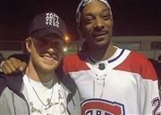 JJ Molson with Snoop Dogg in Habs' jersey presented by JJ