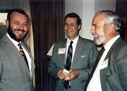 From left: Ivan Ralson '61, Keith Murfin '59 and David Friesen '54 at a Selwyn House gathering.