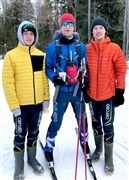 The Delplace boys on the trail, from left: Oliver, Marc and Alexis.