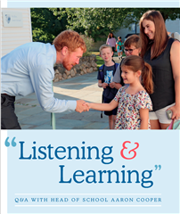 Listening & Learning, A Q & A with Head of School Aaron Cooper